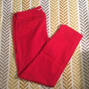Old Navy Red Pixie pant